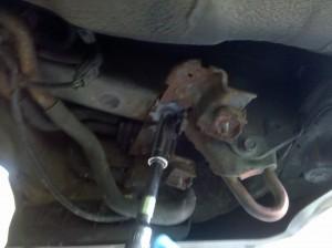 remove 17mm bolt for evap vapor canister purge valve bracket, 2004 Subaru Impreza WRX