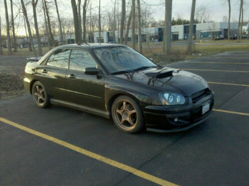 2004 Subaru Impreza WRX, Dash-Z Racing LED Halo headlights, copper 5zigen fn01r-c 18x7.5 wheels