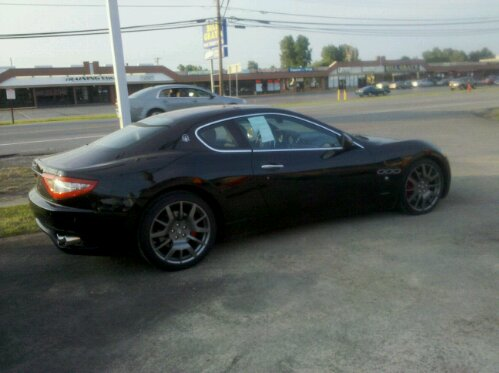 2008 Maserati Gran Turismo, black, right rear side view