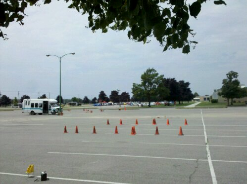 WNY SCCA autocross course finish at ECC North Campus, Williamsville, NY