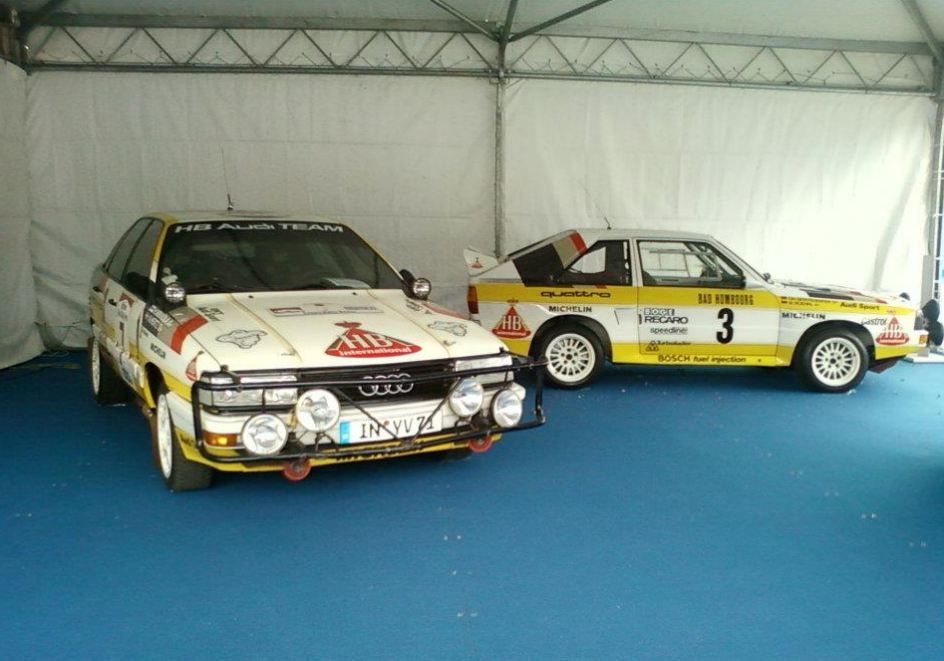 Audi Quattro rally cars