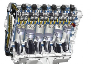 BMW inline straight slant 6 cylinder engine