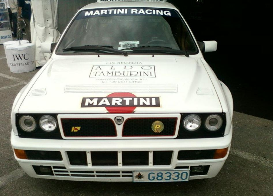 Lancia Delta Integrale, white Martini Racing, rally car