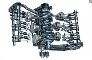 Porsche 911 flat 6 engine internal cutaway illustration