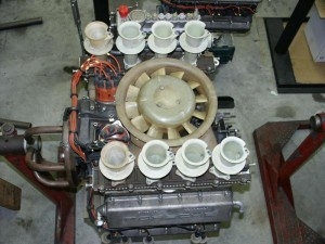 Porsche flat-8 cylinder racing engine from 907 race car