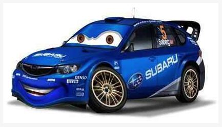 solberg cars style cartoon subaru wrx sti impreza 5 door wagon