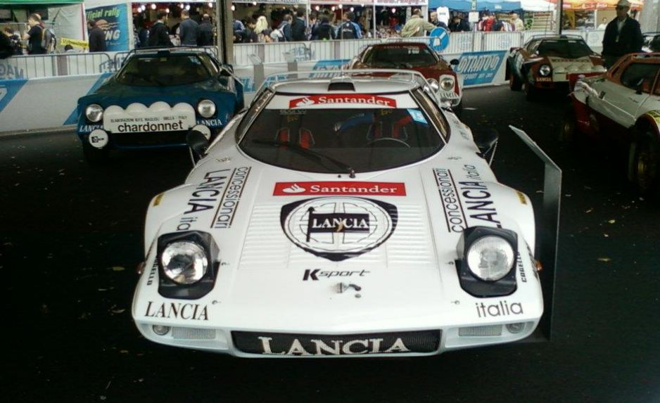 Lancia Stratos, white rally car, Santander