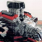 Enzo Ferrari Engine with Gearbox