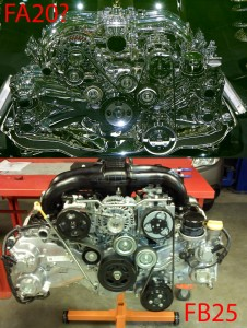 Subaru FA20 vs FB25 motor